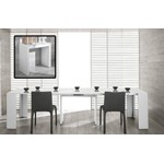 Morph - Modern Ultra-Compact Extendable White Dining Table
