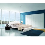 Orca - Contemporary Platform Bed with Lights