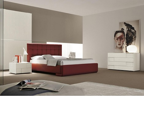 Prestige PR.01 - Bordeaux Eco-Leather Bed