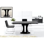 Split - Modern Black Extend-able Dining Table