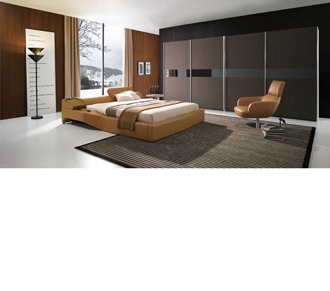 Tetra - Modern Leather Bed