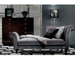Transitional Fabric Lounge Chaise - AW228-190