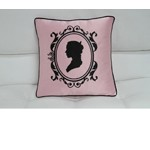 Transitional Pink And Black Print Throw Pillow