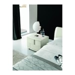 Trendy White Ash Nightstand