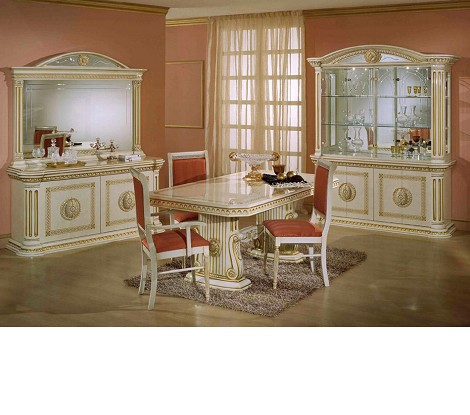 Rossella Beige Traditional Dining Set (Including China)