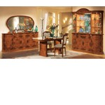 Flora Walnut Traditional 8-Piece Dining Set Made in Italy