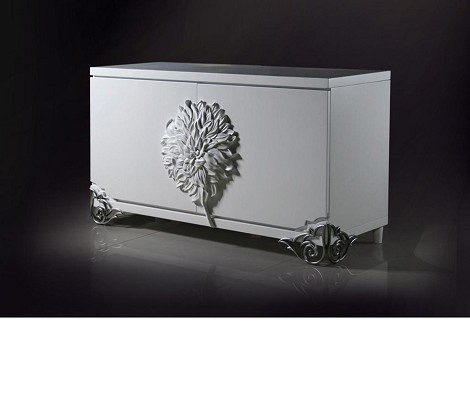 Emma - White Lacquer Modern Buffet