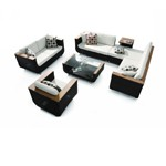 HT01V3 7 Piece Patio Set including Cushions