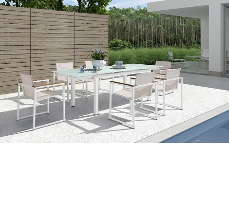 H73 - Modern Patio Extend-able Dining Set