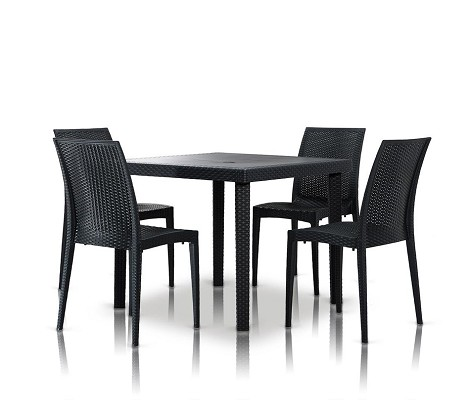 Bistrot - Modern Square Dining Table Set