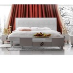 Snow White - Elegant Leatherette Tufted Bed