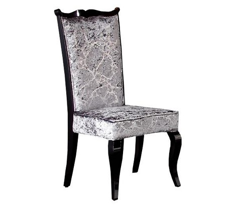Silver Velvet Arm Chair - AC014