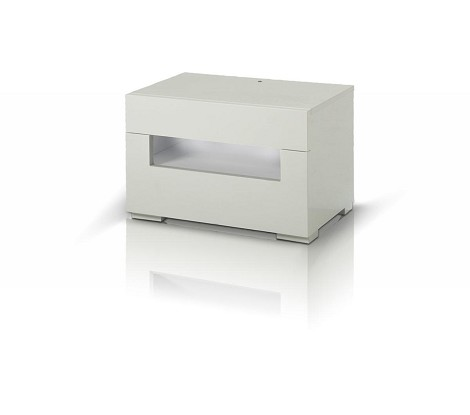 CG05 - Modern LED White Lacquer Nightstand