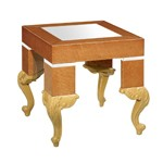 Regency Style Light Brown Night Stand