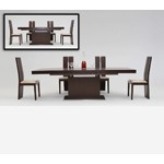 Zenith - Modern Red Oak Extendable Dining Table