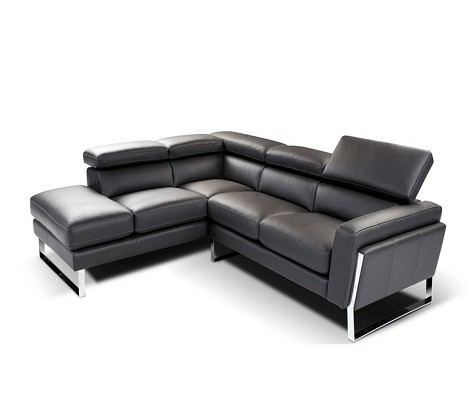 798 - Modern Italian Leather Sectional Sofa