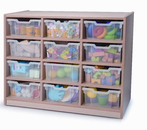 12 TRAY STORAGE UNIT MELAMINE