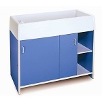 EZ CLEAN INFANT CHANGING CABINET - BLUE