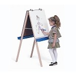 ADJ. EASEL W/CHALK & WRITE/WIPE BOARDS