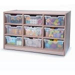 9 TRAY STORAGE MAPLE MELAMINE
